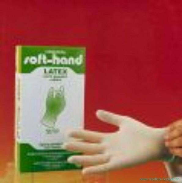 Soft-hand Gants d'examen en latex Gr.S lég. poudré, non stérile, p.à 100
