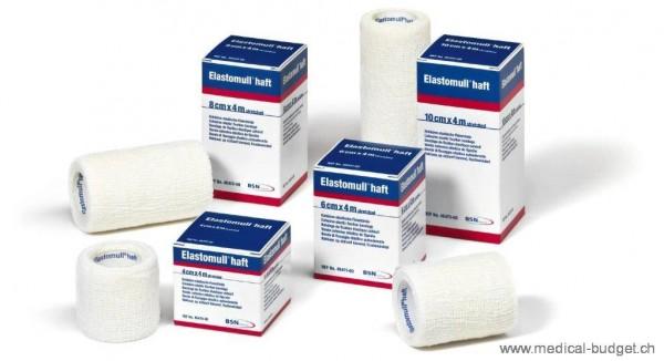 Elastomull-haft 6cmx4m Bande de fixation cohésive, blanc, sans latex, p.à 10 rlx