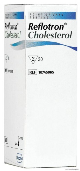 Reflotron Cholestérol, 30 tests