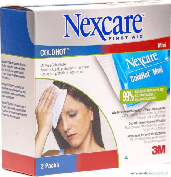 Nexcare Cold Hot Mini Compresse 11x12cm avec biogel, p.à 2 pces