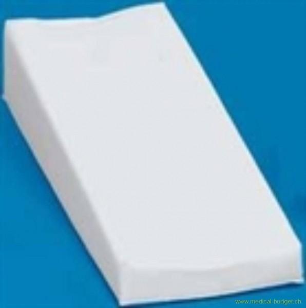 Coussin pour prise de sang 45cm housse en similicuir blanc