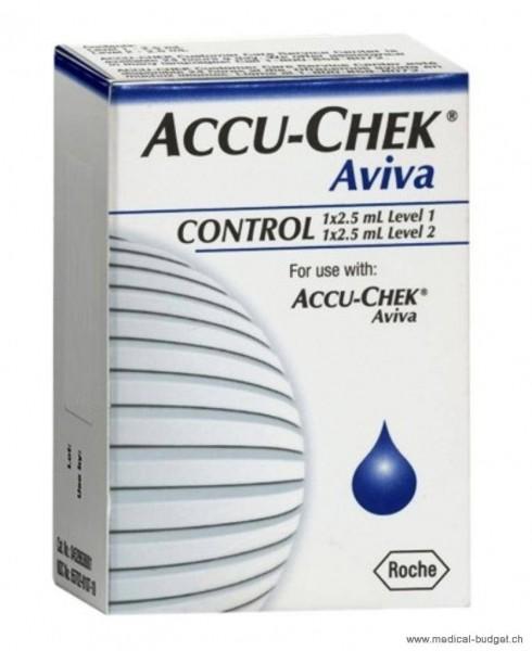 Accu-Chek Aviva Contrôle 2x2,5ml haut/bas