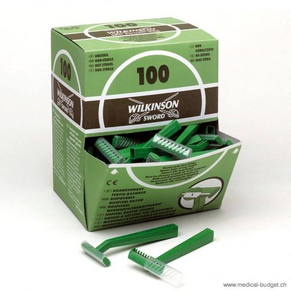 Wilkinson Rasoirs à usage unique à 1 tranchant non stérile, p.à 100