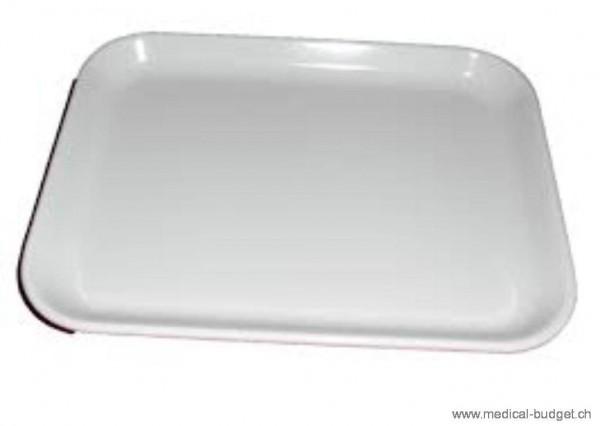 Instrumententablett Kunststoff weiss 19x15x1,7cm flache Form