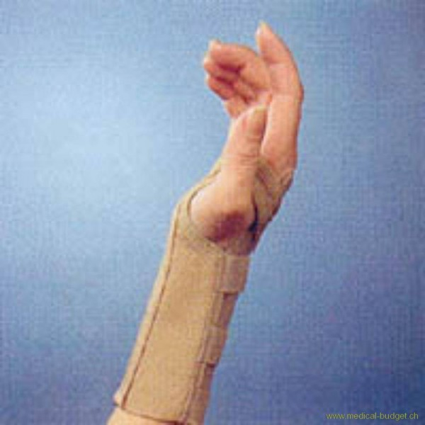 Thämert Orthoflex Handgelenkbandage links Gr.M 16,5-18-5cm Länge 16cm hautfarbig