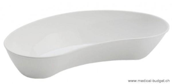 Bassin réniforme plastique blanc, 26 cm