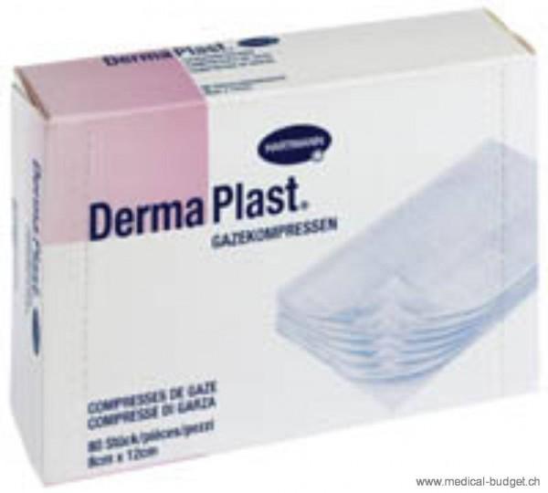 DermaPlast Compresses de gaze 8x12cm stérilisées, p.à 80 pces
