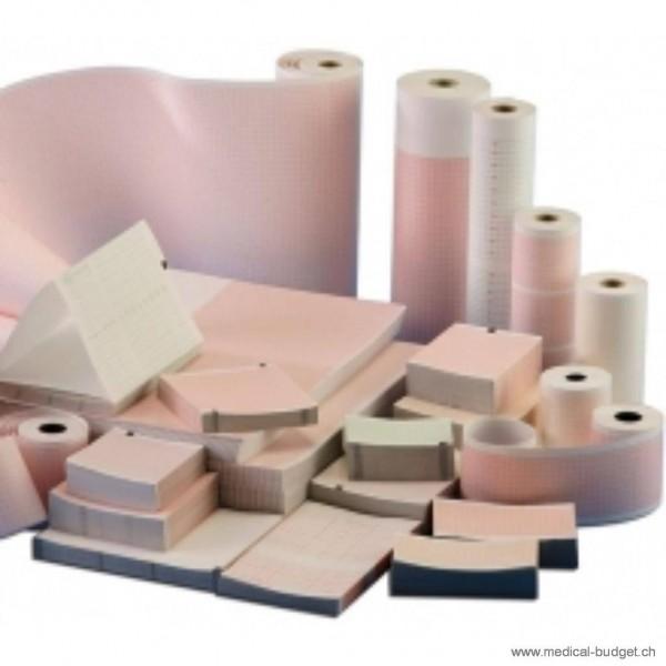 Papier-ECG plié 210x145mmx30m pour ECG FukudaDenshi Cardiomax FX-4010, FX-7402