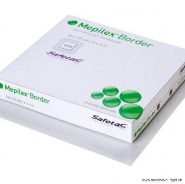 Mepilex Border Safetac, pansement hydrocellulaire mousse, absorbant 15x15cm, paquets de 5 pièces