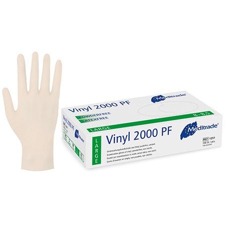 Meditrade U-Handschuhe Vinyl 2000 PF Gr.M P.à 100 unsteril puderfrei weiss