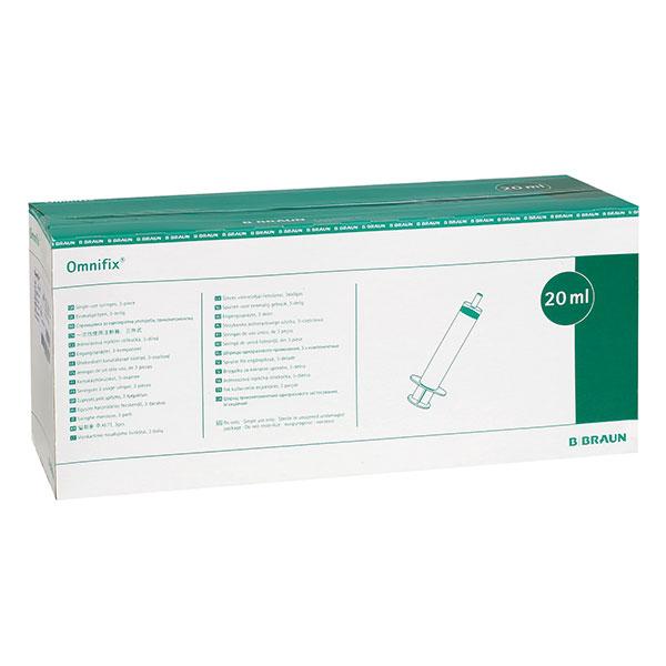 Omnifix Seringues 20ml embout Luer-Lock centré p.à 100