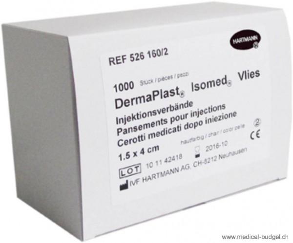 DermaPlast Isomed Pansements pour injections 1,5x4cm blanc, en vlies non-tissé, p.à 1000