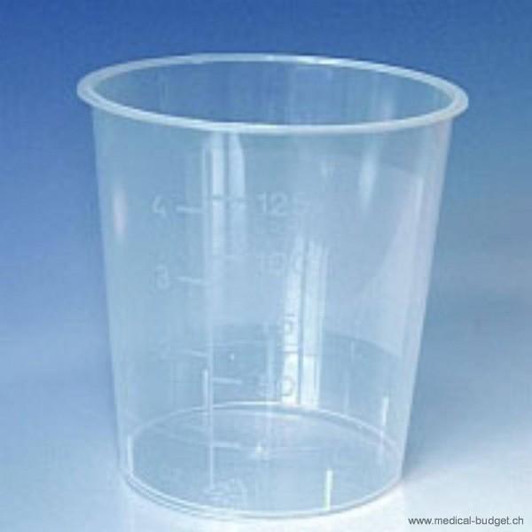 Gobelets à urine 125ml gradués, sans couvercle, à usage unique, p.à 1000 pces