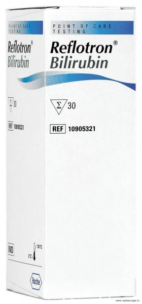 Reflotron Bilirubine, 30 tests