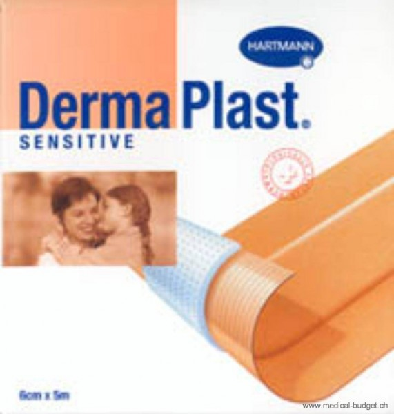 DermaPlast Sensitive Pansement rapide non-tissé 6cmx5m chair p.à 1 rl.
