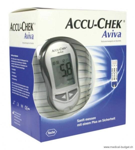 Accu-Chek Aviva Lecteur de glycémie Set mmol/l, incl. FastClix, 2x6 lancettes et 10 bandelettestest