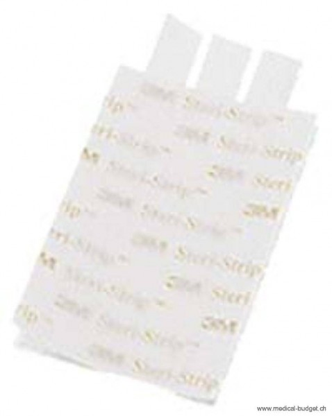 3M Steri-Strip blanc renforcé 6x75mm 50 sach. à 3 pces
