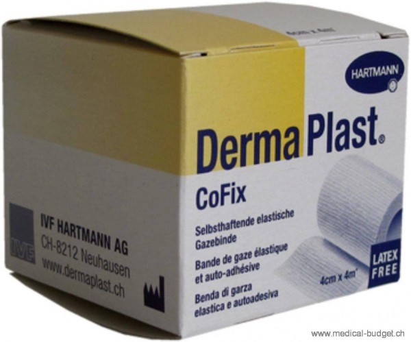DermaPlast CoFix weiss 4cmx4m P.à 1 latexfrei