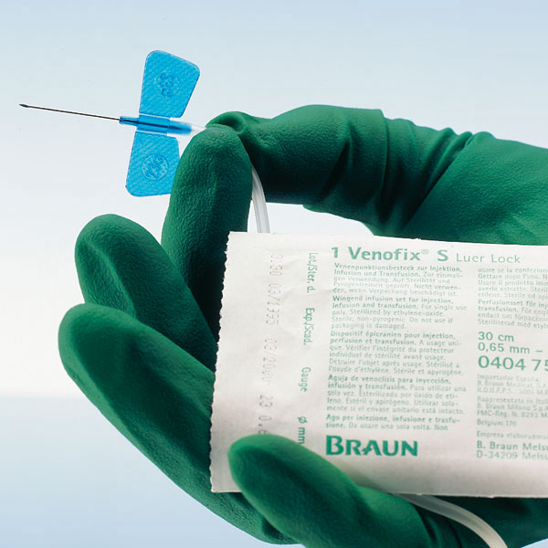 Venofix Safety, bleu, 0,65x19mm, 23G, paquet de 1