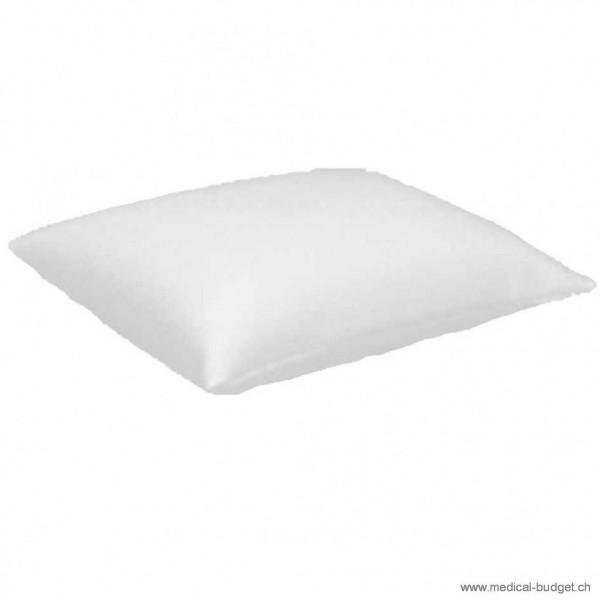 Coussin pour lit d'examen 35x45cm (6000) avec housse en similicuir blanc à fermeture éclair, rembourrage en mousse PU