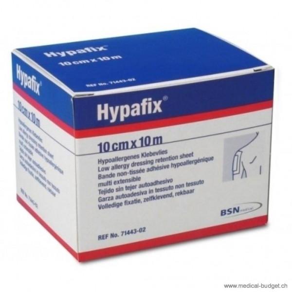 Hypafix Pansement de fixation 10cmx10m en non-tissé blanc hypoallerg.