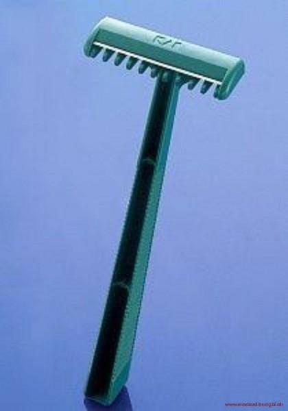 KAI Rasoir à usage unique, tranchant d'un coté, vert, non-stérile, p.à 100
