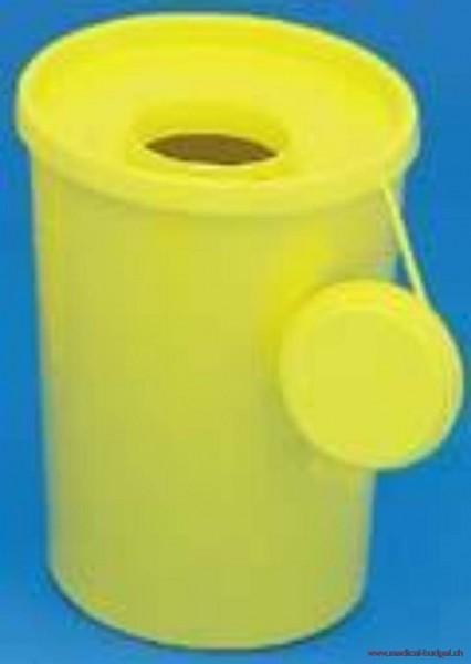 Poly-Box Container à déchets jaune 2 litres p.à 100 pces