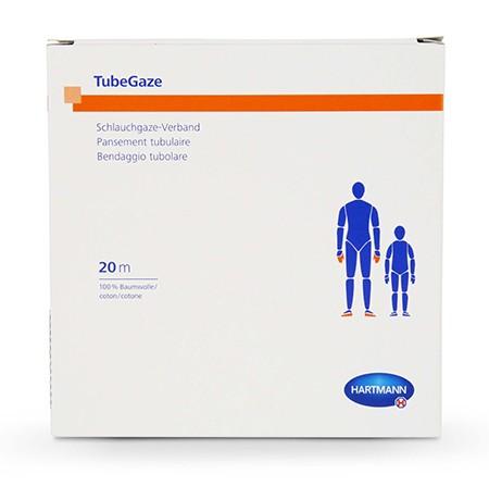 TubeGaze Pansement tubulaire jersey blanc Gr.T1 10cmx20m 1 rl pour tête, visage, tronc, épaules et corps minces