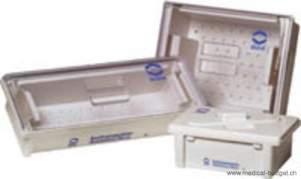 Bode Bac de désinfection 3 litres av. couvercle et égouttoir PVC 30x20x11cm