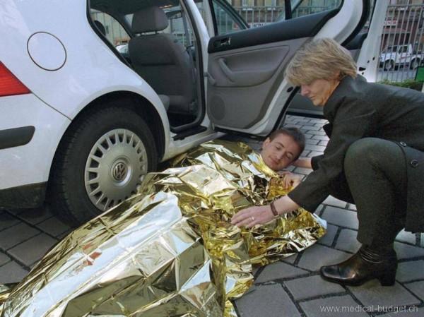 Rettungsdecke Alu 160x210cm silber/gold
