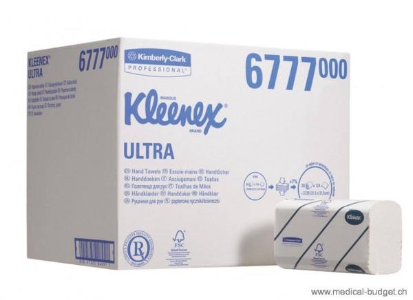 Kleenex Ultra Handtücher Interfold Airflex 6772 weiss 2-lagig 21,5x41,5cm P.à 2820