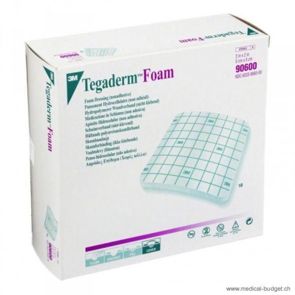 3M Tegaderm Foam Compresse en mousse PU 5,1x5,1cm non-adhésive, p.à 10