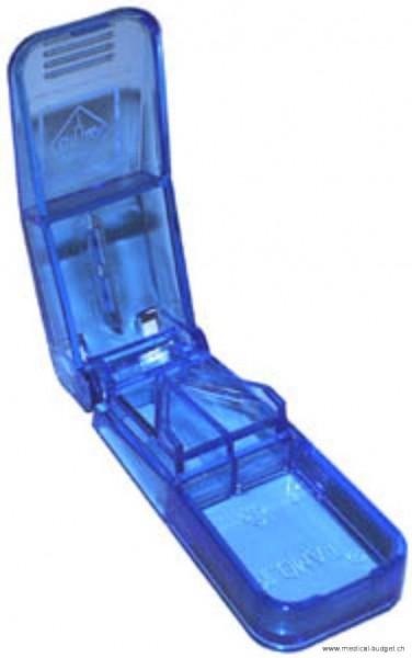 Diviseur de cachets/comprimés bleu-transparent