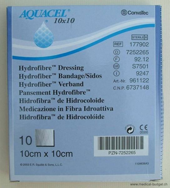 Aquacel Extra Hydrofiber Compresses 10x10cm p.à 10