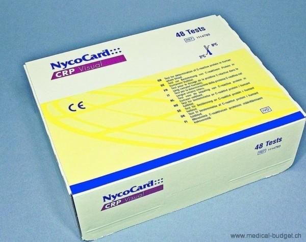 NycoCard CRP Single-Test P.à 48 Test (ohne Kontrolle und Kapillaren)