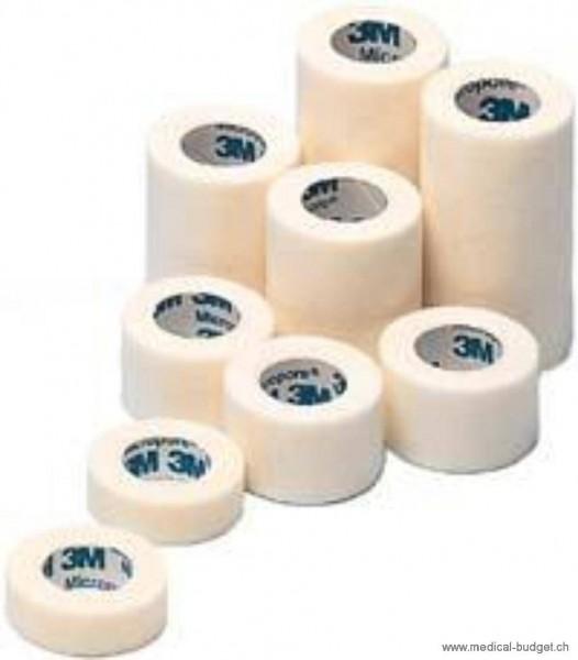 Micropore blanc, sans dérouleur 2,5cmx9,14m 12rlx