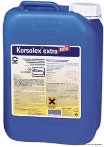 Korsolex extra 5 litres avec aldéhydes pour la désinfection des instruments (prix taxe-COV incl.)