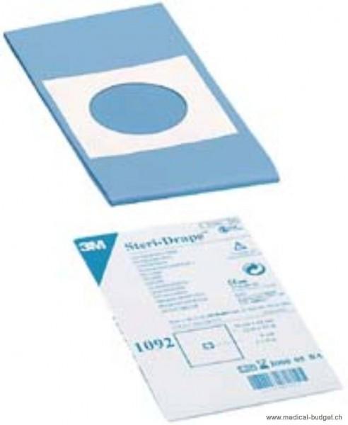 Steri-Drape 1092 Champ-OP troué av. zone adhésive 66x57cm stérile, bleu, Ø trou 6cm, p.à 25