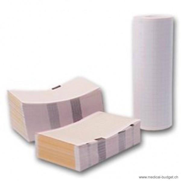 Papier-ECG plié 144mmx60m pour Cardisuny Alpha 600 / 620 / 6600A / AM / AX p.à 1