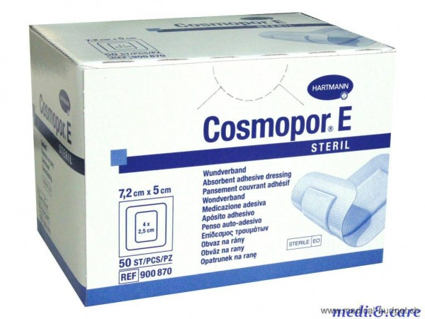 Cosmopor E Vlies Wundverband weiss 10x8cm steril P.à 25