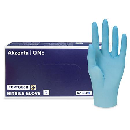 Top Touch Plus Gants d'examen soft nitrile Gr.S non poudré non stérile ice blue p.à 100
