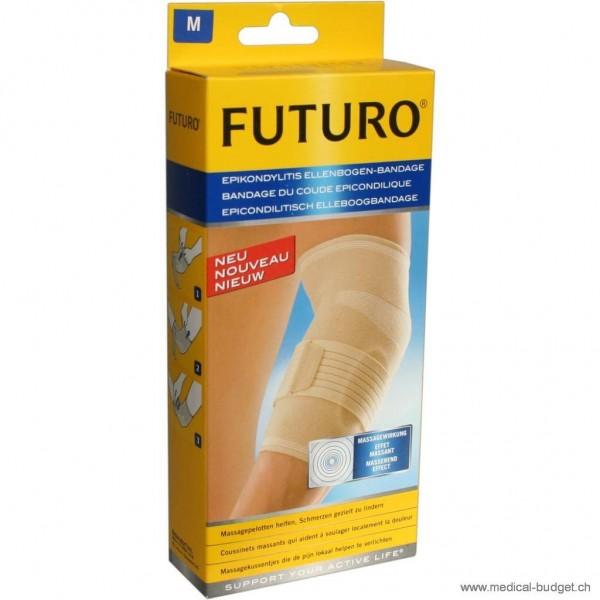 Futuro Bandage du coude épicondylique Gr. L circonf. 28,0-30,5cm, beige, gauche / droite