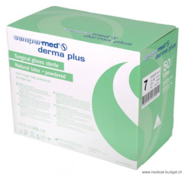 Sempermed Derma Plus Gants-OP en latex Gr.8 poudré, stérile, p.à 50 paires