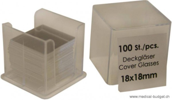 Lamelles couvre-objets 18x18mm P à 1000