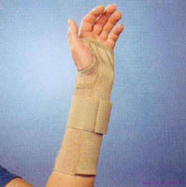 Thämert Orthoflex Handgelenkbandage links Gr.M 16.5-18.5cm Länge 20cm hautfarbig
