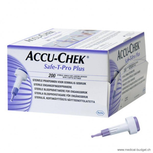 Accu-Chek Safe-T-Pro Plus Stechhilfe P.à 200