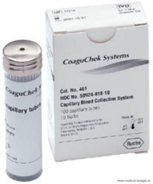 Capillaires en plastique 50µl pour CoaguChek p.à 100
