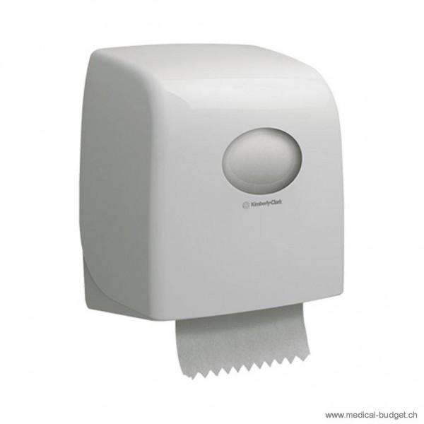 Kimberly Aquaris Handtuchspender Standard klein KS weiss 15,9x28,7x14,2cm (HxBxT) mit Sichtfenster für C und Zickzack-Falzung mit Adapter auch für Interfold